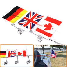 Chrome motorcycle rear side mounting flagpole america flag high quality flagpole with flag for honda goldwing gl1800 2001-2011