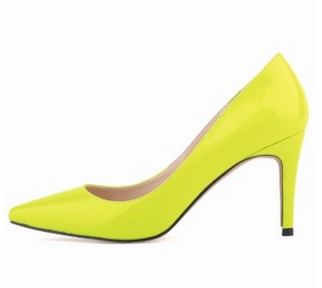 Fluorescent Yellow Heels