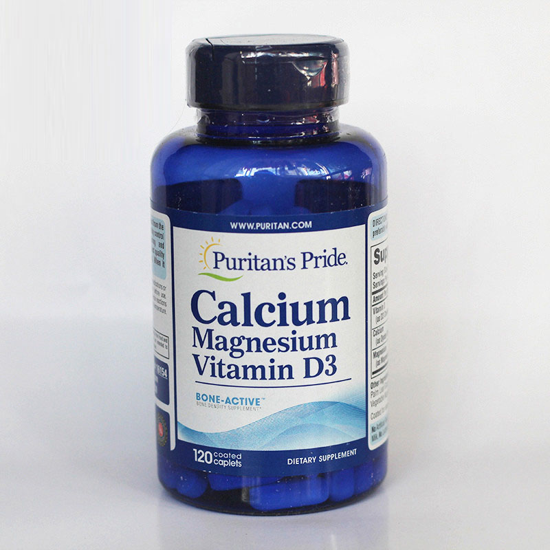 Free Shipping Calcium Magnesium Vitamin D3 120 pcs bone joint pain liquid calcium with vitamin d3 body relaxation