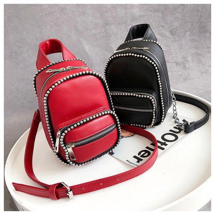 Small Women Shoulder Bag Rivet Leather Women's Crossbody Messenger Bags Ladies Purse Female Bolsa Designer Handbag