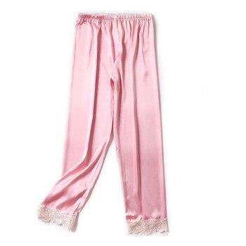 d6f638cf11e41 Сексуальные пижамные брюки женские шелковые брюки для сна атласные домашние  брюки для женщин плюс размер домашние брюки Pijama Femme пижамы