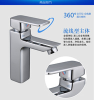Free shipping Hot cold single lever basin mixer taps with Polished chrome basin sink mixer tap and basin faucets , water taps