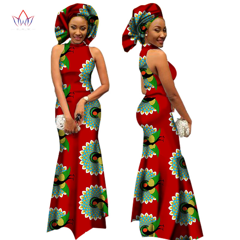 Brw 2017 African Style Clothing Bazin Riche African Print Long Dresses For Women Dashiki
