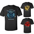 Pokemon Go Team Valor Team Mystic Team Instinct Pokeball T shirt Red Blue Yellow ketchum trainer S-XXL Mens Short Tee Shirt