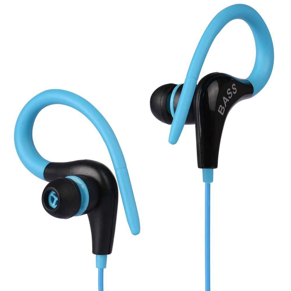 in ear noise canceling earphone headphones stereo bass sport ear hook handsfree head phone for. Black Bedroom Furniture Sets. Home Design Ideas