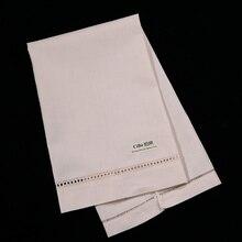 купить TL003 : 12 pieces/pack  55% linen 45% cotton  beige/ecru guest towels with hand-made drawn work по цене 1823.67 рублей