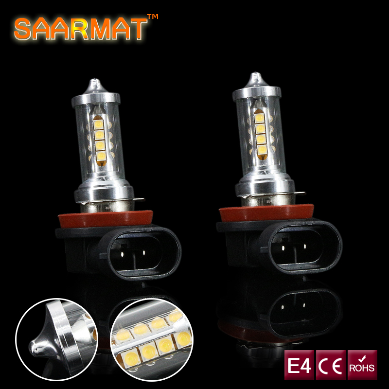 2 x Led H11 H8 Bulb Canbus No Error with 16 Sharp Chips LED Fog Lamp Daytime Running Light For Mercedes Benz W211 W212 W221 W164 купить