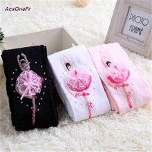 2017 New Children Girl Pantyhose Ballet Style White Net Kid Socks Cute Dance Lace For Baby Velvet Magic Socks Collant WM-129