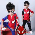 Kids Clothes Boys Hooded Spiderman +Pants 3 Pieces Clothing Sets Baby Boy Kids Active Suit Spiderman Tracksuits free send a bag