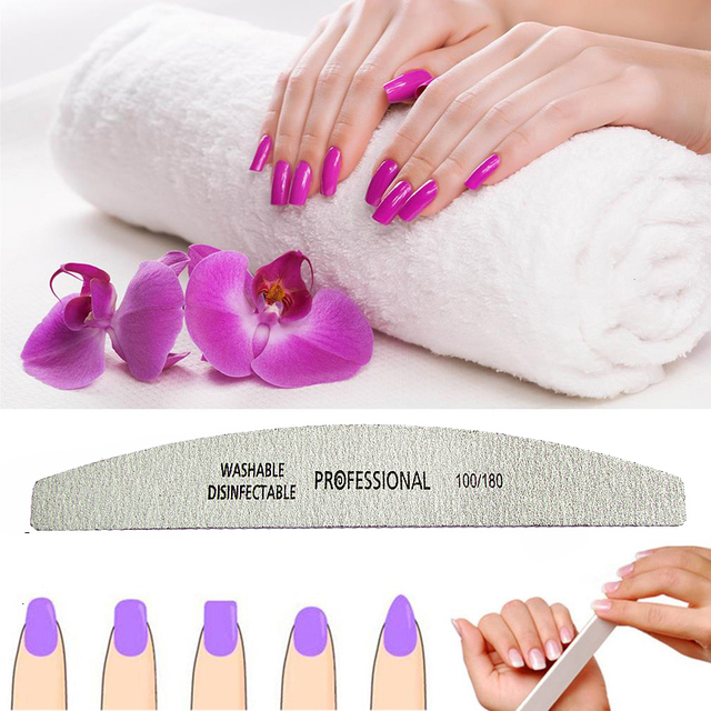 Professional Sandpaper Manicure Polish Nail Files 5 pcs Set