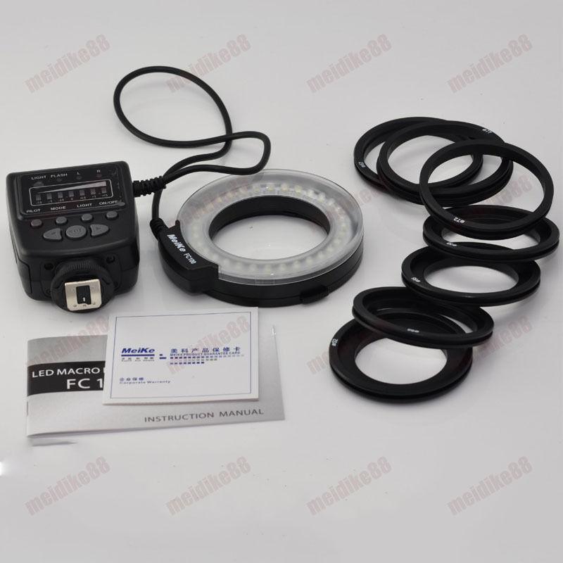 Freies verschiffen fc100 led makro-ringblitzleuchte für canon dslr kameras eos 650D 600D 60D 7D 5D 70D 550D 1000D 1100D T3i T4i T3