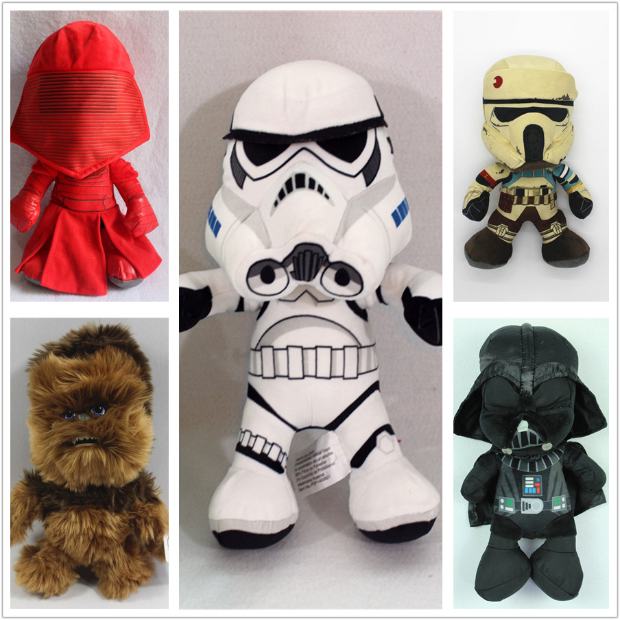 1 Piece 30cm Star Wars Darth Vader Storm Trooper  Plush Toys Doll For Kids Gifts&birthday