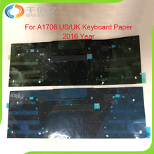 New US/UK Black Cover Foil Paper Shield Backlit A1706 Keyboard Backlight For Macbook Pro 13″ Retina A1706 2016 Year