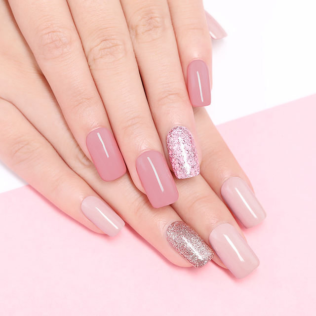 LILYCUTE 5ml Rose Gold Gel Pure Color