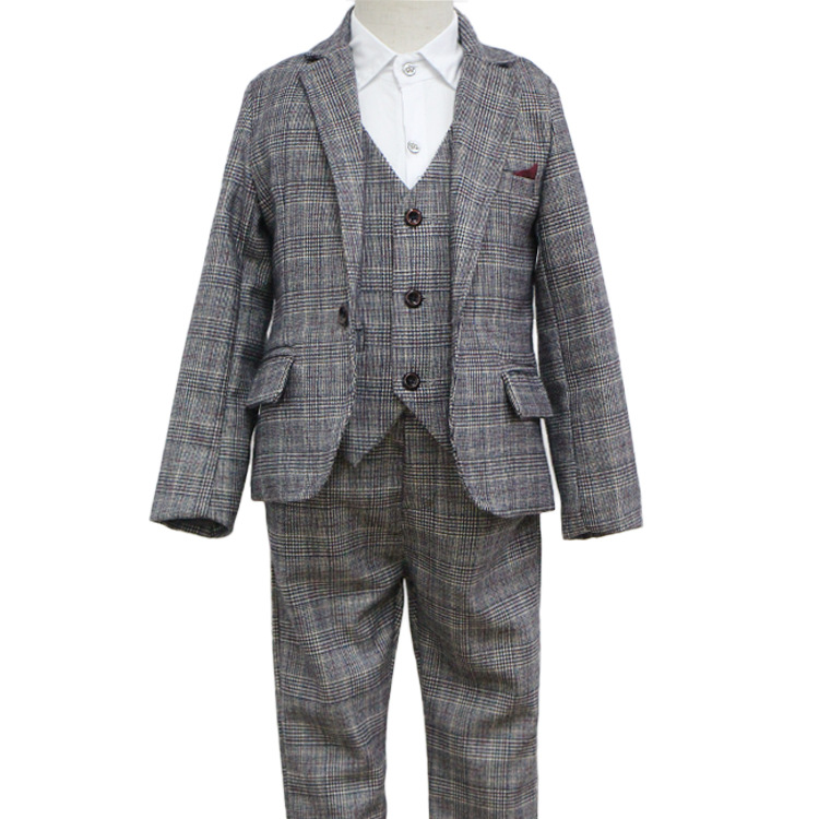 Baby Boys Clothing Sets Winter 2018 Cotton Plaid Vest Shirt Pants 3 Piece Set Boy Kids Clothes Costume Children Clothing 3cs223 2016 new suit boys clothes brand winter sweater for kids 3 13 year with m word three piece set boys vest pants coat a 26145