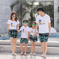 Summer mother and daughter clothes family matching outfits mommy and me look tshirt father mom son baby clothing King Queen