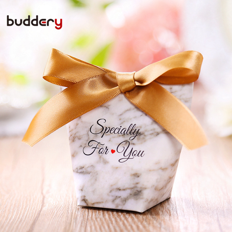 50pcs Ceative Letter Heart Candy Boxes Wedding Gift Boxes For Guests