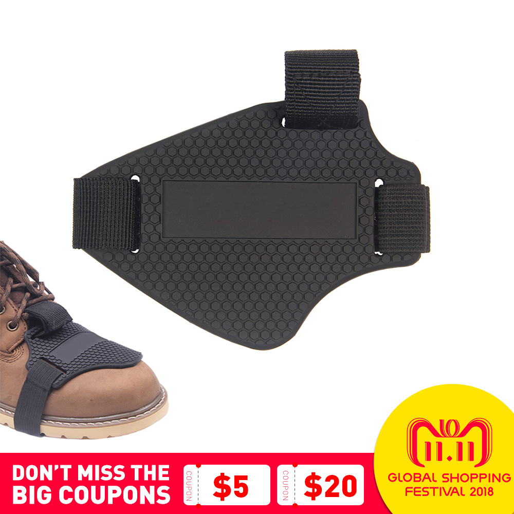 Motorcycle Boots Cover Wear-resisting Rubber Motorcycle Gear Shift Pad Riding Motorbike Boots Cover Protector Shifter Guards цена