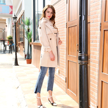 2019 New Korean Edition Self-cultivation Embroidery Overcoat