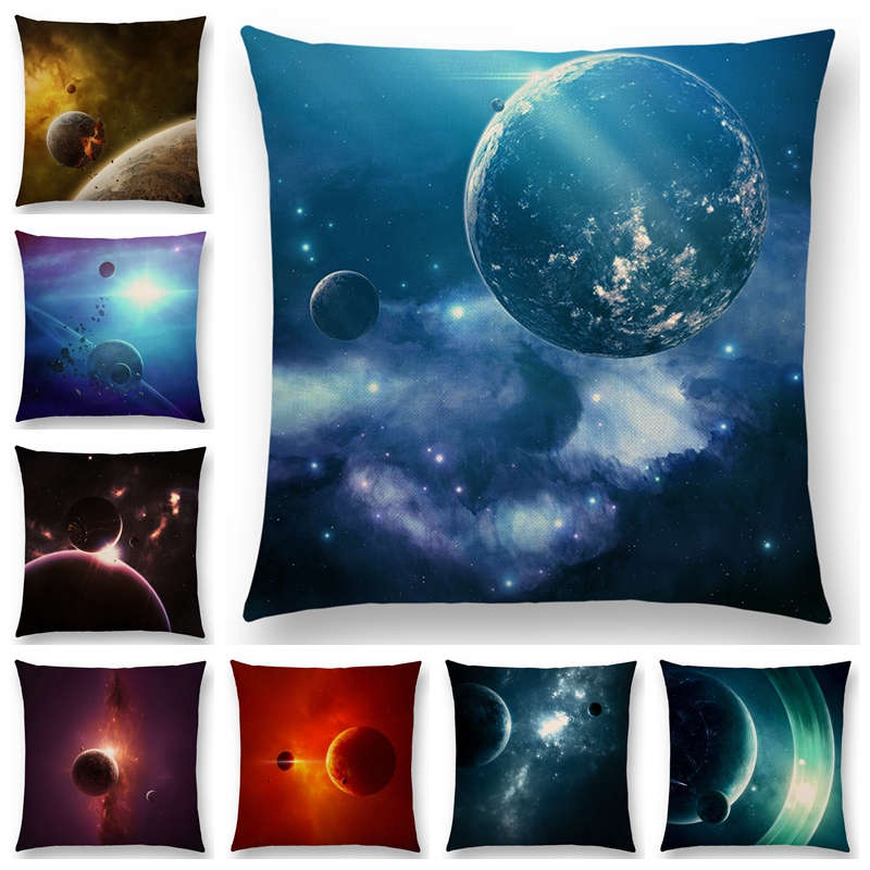 Stupendous Us 3 26 18 Off Hot Sale Mysterious Universe Vast Outer Space Beautiful Planets Fantasy Galaxy Dream Stars Cushion Cover Sofa Throw Pillow Case In Gmtry Best Dining Table And Chair Ideas Images Gmtryco