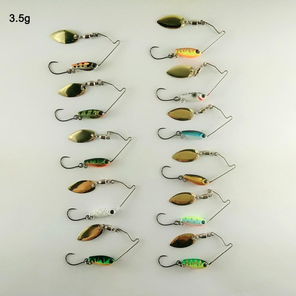 BassLegend- Metal Bait Mini Spinnerbait Bass Pike Trout Chub Fishing Lure Jigging Spoon 3.5g/5.5g/7g