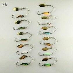 BassLegend-appât en métal Mini Spinnerbait basse brochet truite Chub leurre de pêche cuillère à gabarits 3.5g/5.5g/7g
