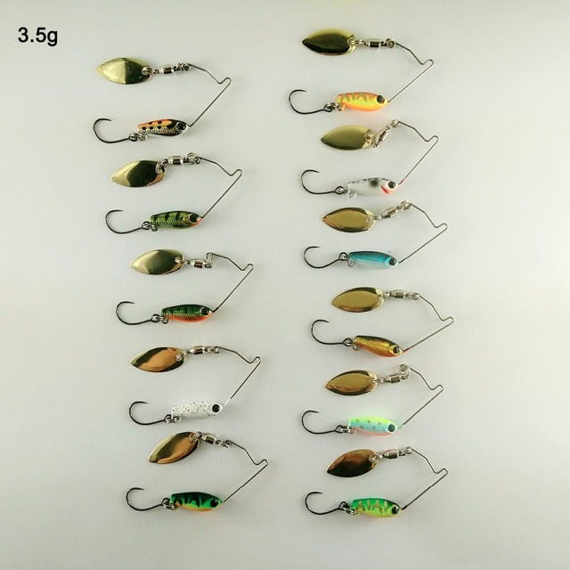 BassLegend-appât en métal Mini Spinnerbait grosse brochet truite Chub leurre de pêche cuillère à gigue 3.5g/5.5g/7g