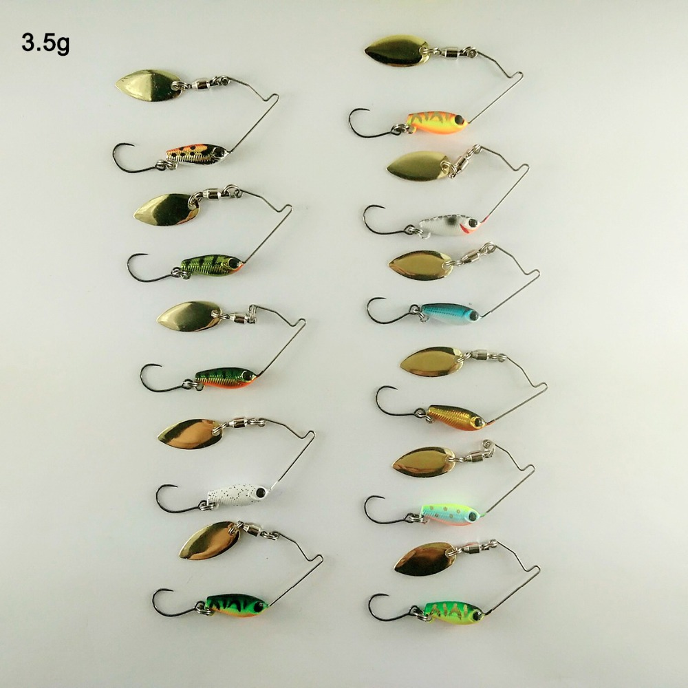 BassLegend-<font><b>Metall</b></font> Köder Mini Spinnerbait Bass Pike Forelle Chub Angeln Locken Jigging Löffel 3,5g/5,5g/ 7g image