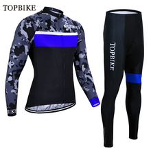 цена на TOPBIKE Winter long sleeve cycling jersey pants bicycle cycling wear clothes set Ropa Ciclismo riding bike long equipment suits