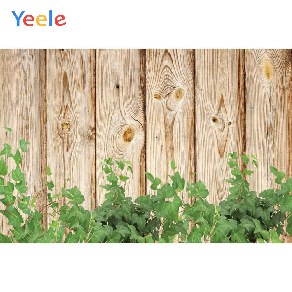 Yeele Wooden Board Creeper Green Grass Vine Portrait Photography Backgrounds Customized Photographic Backdrops for Photo Studio