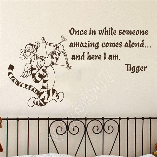 Wxduuz Quote Winnie The Pooh Tigger Once In While Someone Nursery Art Kids Room Cartoon