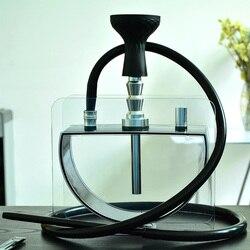 Wasser Rohr Shisha Set Acryl Shisha Mit Sheesha Silikon Schüssel Schlauch Metall Zangen Chicha Narguile Tabak Rohr Zubehör