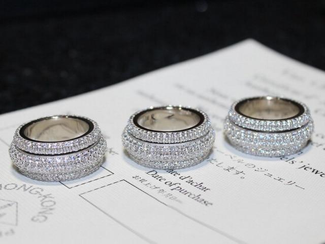 Simulated stones Women Wedding Engagement Band Ring