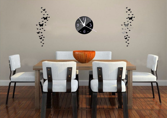 2017 New Wall Clock Clocks Horloge Modern Design Reloj De Pared Large Decorative Digital Watch Living Room 3d Diy Acrylic Mirror