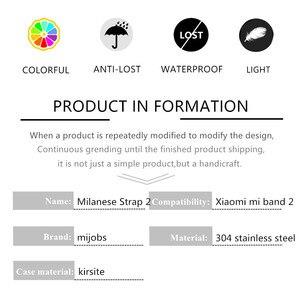 Image 4 - Mijobs Mi Band 2สายคล้องข้อมือสำหรับXiaomi Mi Band 2สายคล้องข้อมือMi Band2สมาร์ทสายคล้องคอMiBand 2สายรัดข้อมือสีดำแม่เหล็กโลหะ