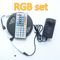RGB Led Strip Non-Waterproof 5M SMD 3528 300 LEDs/Roll +44 keys IR Remote + DC12V Power Adapter high brightness led strip light