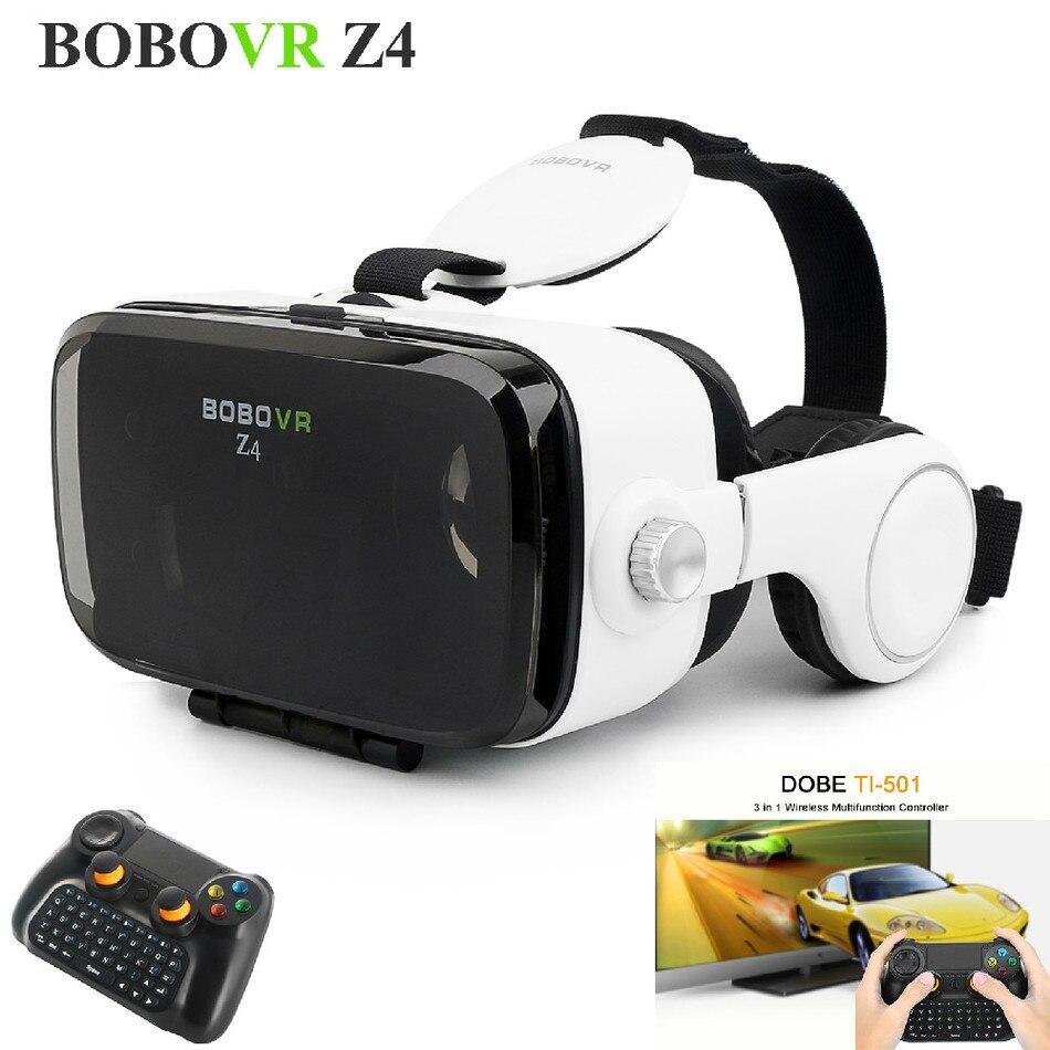 Gafas de realidad virtual bobovr z4 con gampad envolvente de 360 juegos de vídeo