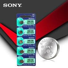 Bateria de relógio, Sony 100% original 395 SR927SW 399 SR927W LR927 AG7 botão de célula tipo moeda 1,55 V feito no Japão