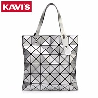 Japanese Style Women BAO BAO Bag Geometry Luxury Brand Ladies Shoulder Bags Top Quality PU Leather