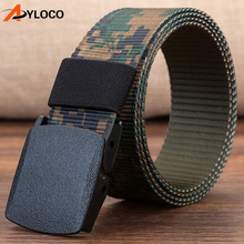 120cm-140cm/7 Color Automatic Buckle Nylon Belt Male Army Tactical Belt Men Outdoor Quick Dry Military Waist Canvas Belts stylish automatic buckle classical checked pattern coffee color belt for men