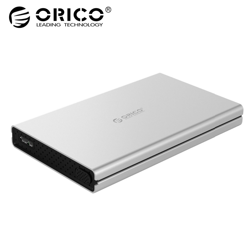 ORICO 2.5 inch Aluminum Alloy USB3.0 to SATA3.0 5Gbps 2.5 inch Hard Drive Enclosure Support UASP For Windows 7 8 10 Mac OS Linux universal msata mini ssd to 2 5 inch sata 22 pin converter adapter card for windows2000 xp 7 8 10 vista linux mac 10 os new