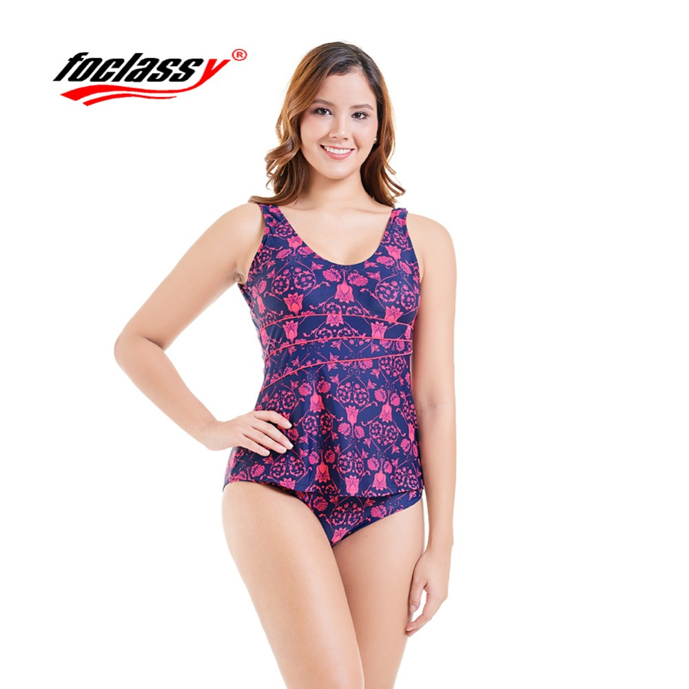 Foclassy Swimsuit Bikini 2018 Plus Size Swimwear Womens swimming suit Bandeau Bather Bathingsuit Beach Wear Maillot De Bain 913