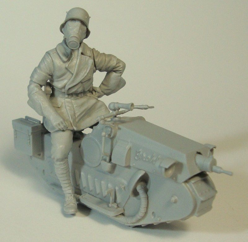 1/35 <font><b>soldier</b></font> Science fiction moto INLCUDE 6 HEADS toy <font><b>Resin</b></font> Model Miniature <font><b>resin</b></font> figure Unassembly Unpainted image