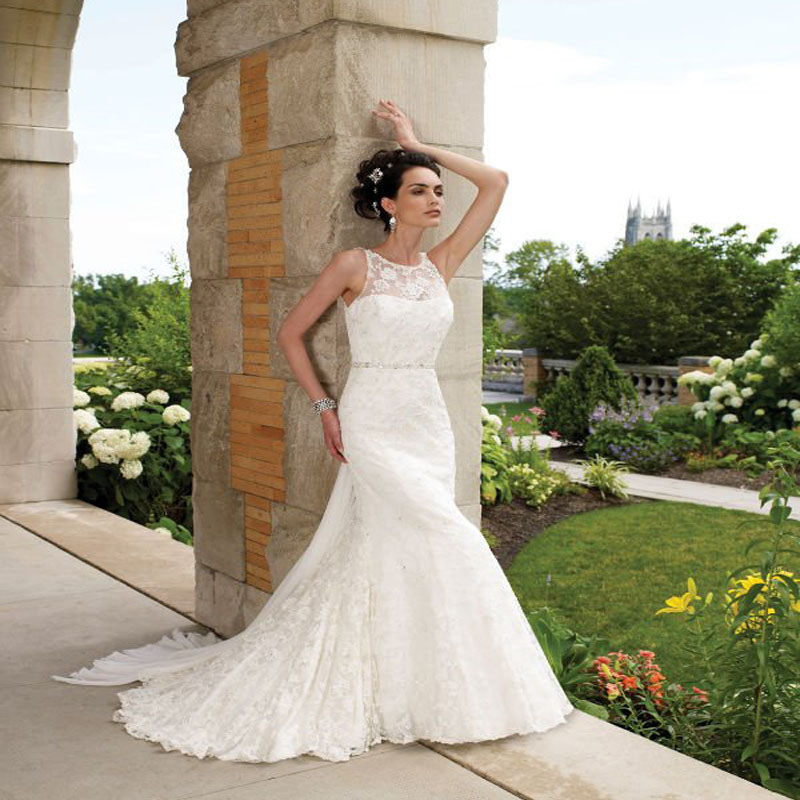 Mermaid Wedding Dress 2015 Lace Bridal Gowns Romantic