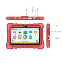 Yuntab 7 pulgadas pantalla táctil tablet Educativo para los niños, de Control de Matriz de Alta Calidad android tablet con elegante del caso del soporte (rojo)