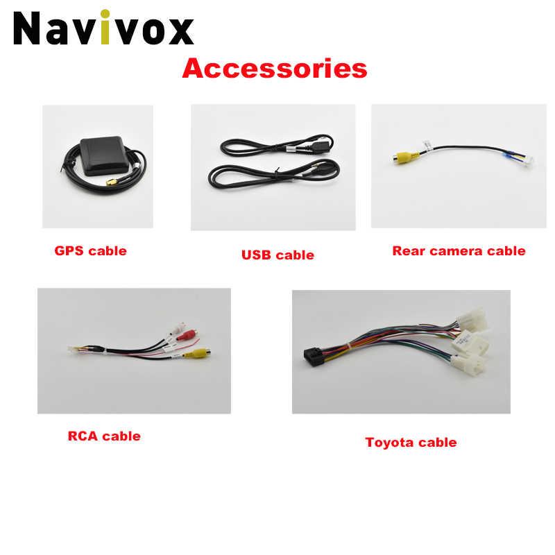 "Navivox 7 ""Android 8.1 4 Core 2Din Auto Media Speler voor Corolla E120 Toyota RAV4 Hilux Fortuner Innova Prado geen DVD"