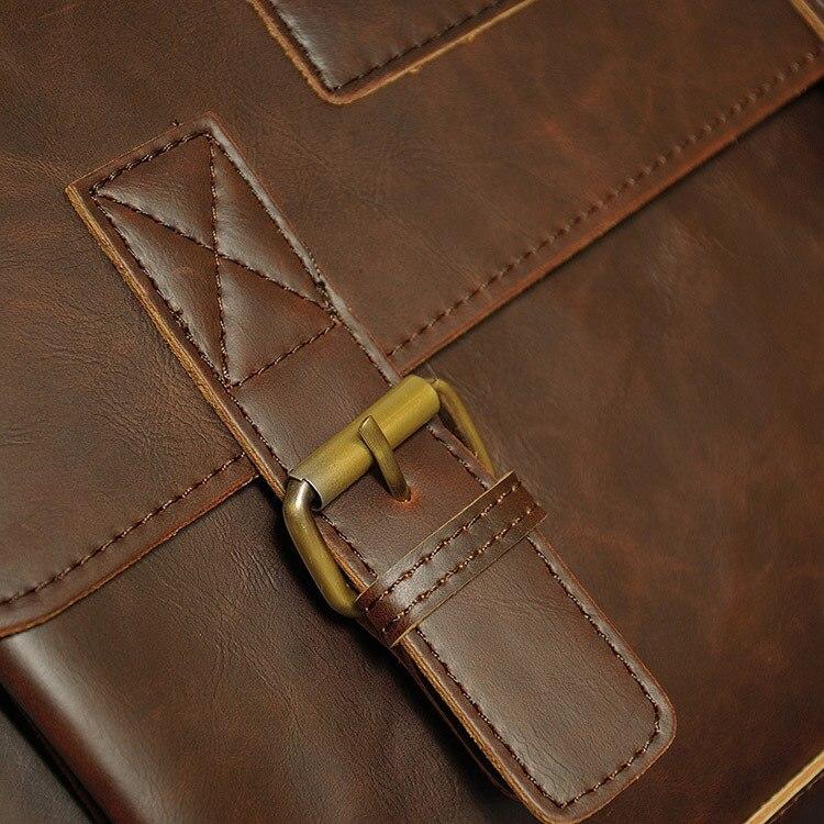 HTB1QIMaczgy uJjSZTEq6AYkFXab Crazy Horse PU Leather Men Briefcase Famous Brand Men's Messenger Bag Male Laptop Bag Business Fashion Shoulder Bags Travel Bag