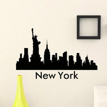 Free Shipping the Wall Sticker Vinyl Art Mural New York City Skyline Silhouette Decals For Home Decoration  Y-224