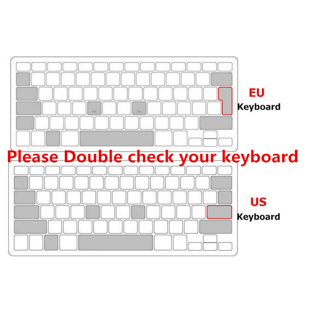 A1534-Russian Us A1708 Russian Euro USA EU Us Keyboard Cover Skin for MacBook Pro Without Touch Bar 13 for MacBook 12 2016 2017 2018 A1708