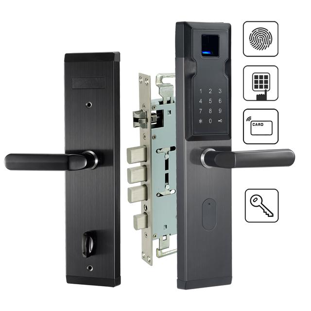 Security Electronic Lock Fingerprint Door Lock Digital Smart Door Lock For Home With Password & RFID Card Unlocked